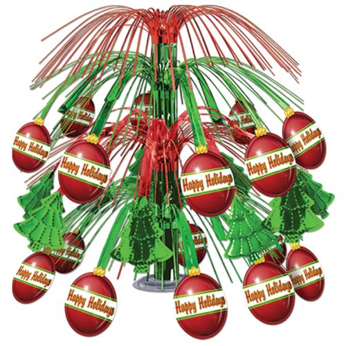 (Beistle 1-Pack Christmas Ornament Cascade Centerpiece, 18-Inch)