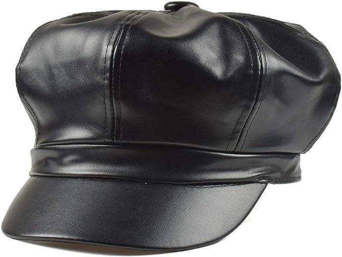 SXBag Flat Hat Beret Cap Autumn Winter Ladies Cotton Mens Leopard Navy Hat Wild Fashion Cap`