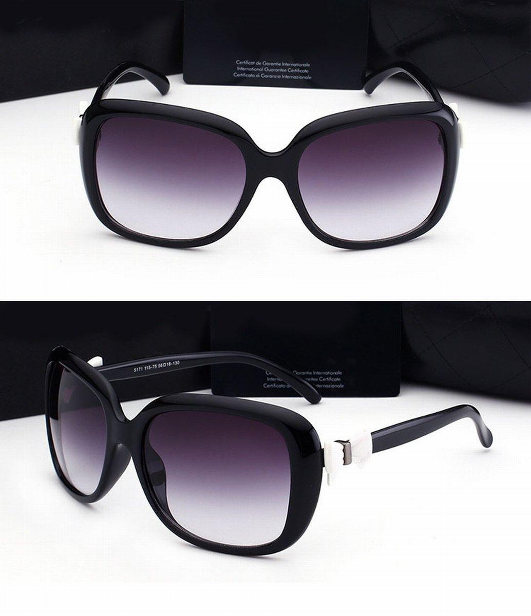 6f28b02718 Gafas de Sol Grandes Del Arco Del Marco Negro Gafas de Sol de la Manera de