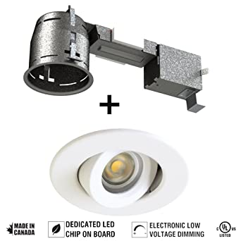 4 adjustable and dimmable round led recessed lighting kit cob led 4quot adjustable and dimmable round led recessed lighting kit cob led white finish aloadofball Images