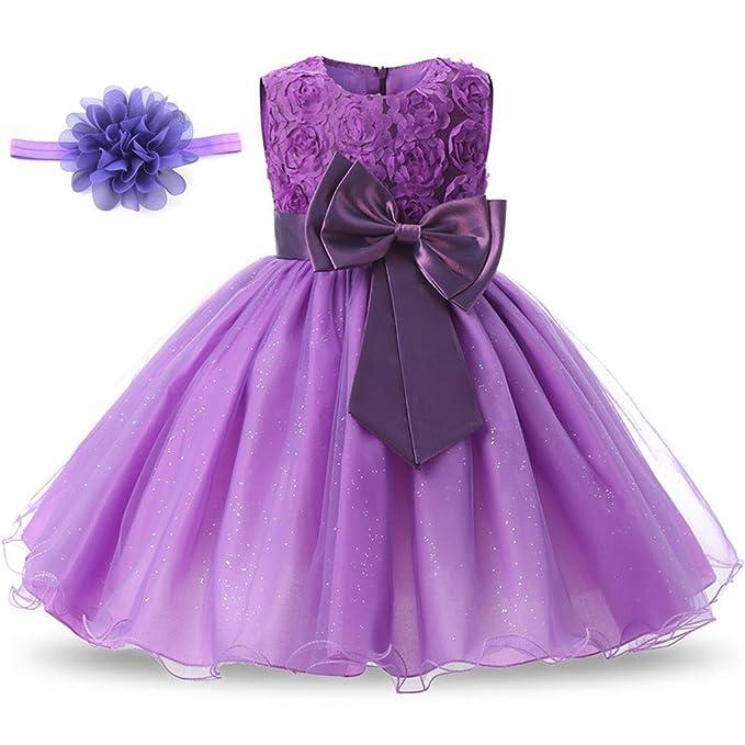 Amazon.com: AiMiNa - Vestido de niña con lazo en 3D, tutú ...