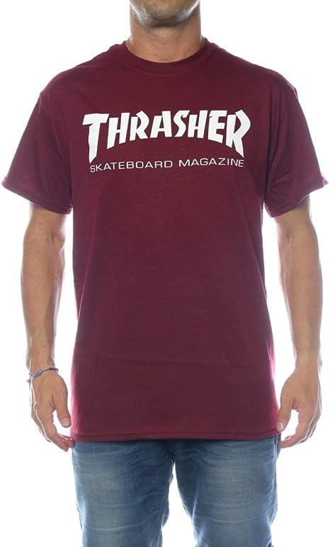 Thrasher Skate de Mag Camiseta de Maroon: Amazon.es: Ropa y accesorios