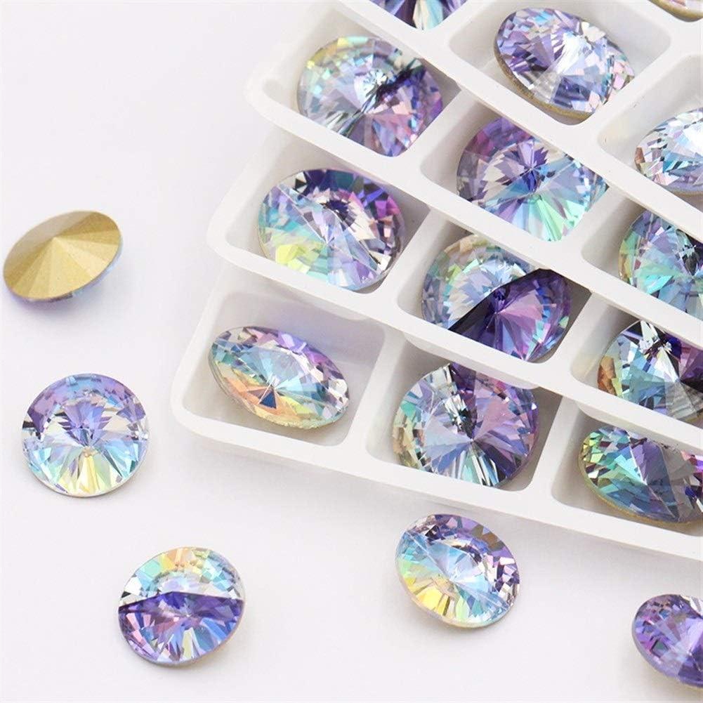 Piedras Cristal Diamantes de imitación Accesorios de prendas de vestir Apliques Cristal Piedra Pegamento de cristal Diamantes de imitación for la decoración de ropa piedras strass hotfix 12mm forma de