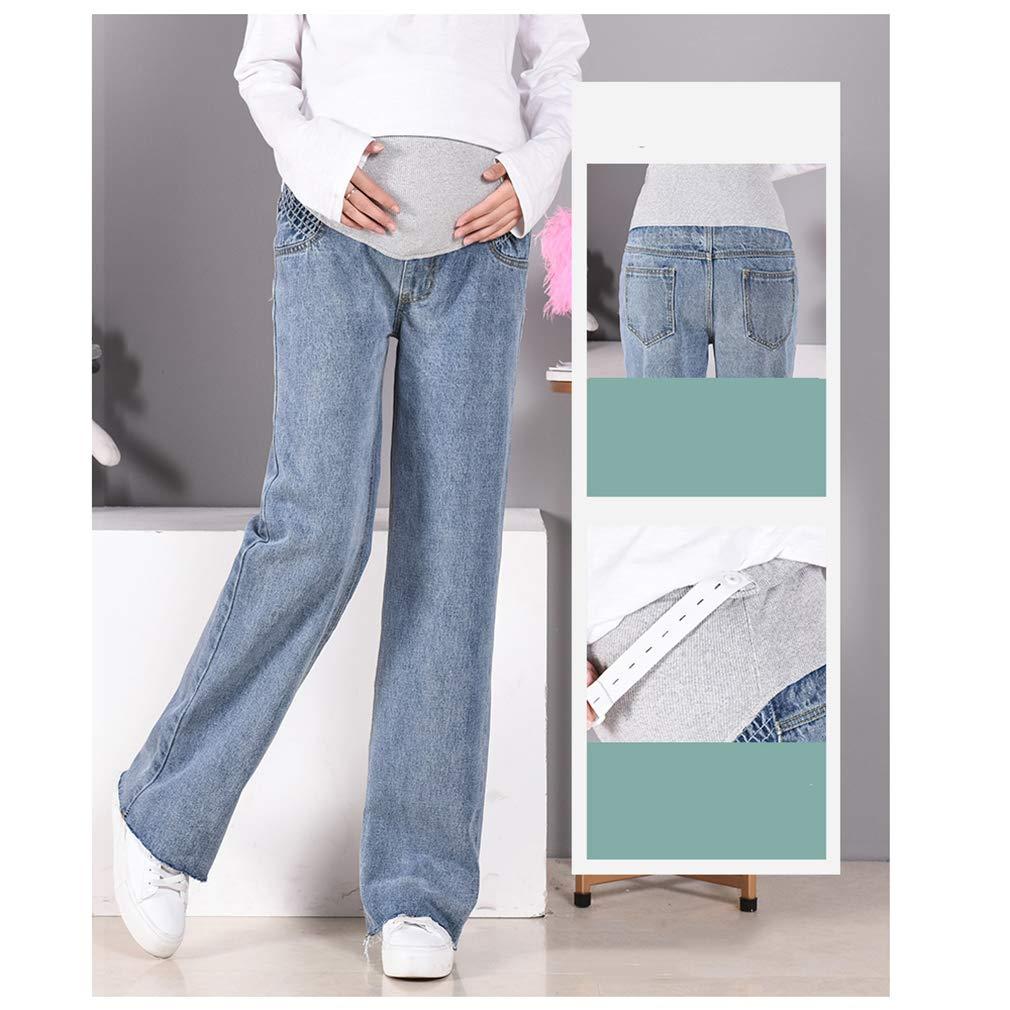 Jeans Grossesse Ceinture Elastique Pantalon Extensible Femme Grande Taille Maternit/é Leggings Denim Enceinte Vetement Long