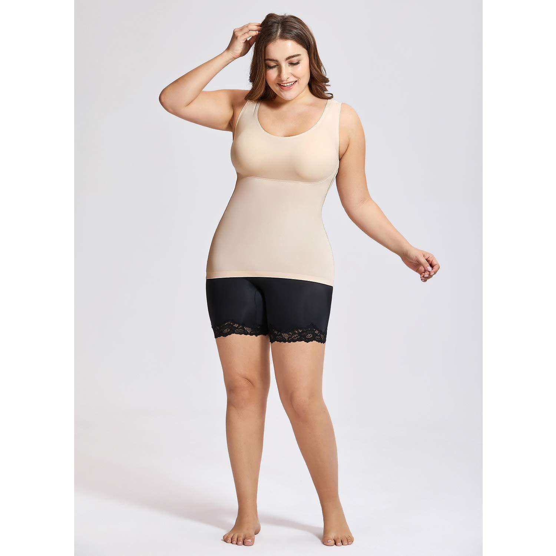 DELIMIRA Damen Figurformendes Unterhemd Camisole Top Body Shaper Bauch Weg Formendes Top
