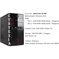 Cyntexia Desktop PC Computer Intel Core i5-750/8GB DDR3 RAM/1 TB HDD/ 2GB DDR3 Nvidia 710 Graphic Card/Operating System and Basic Software Installed/Plug and Start