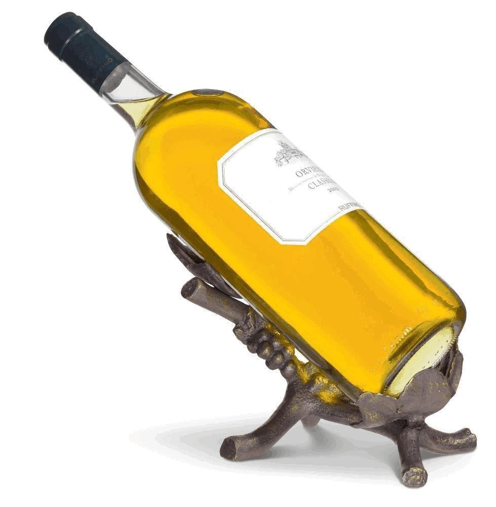 CWI Gifts G12356 2.75 Black Wine Bottle Taper Holder