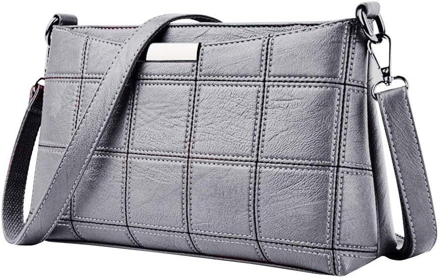 LANDONA Frauen Handtasche Casual Quaste Handtaschen Weibliche Designer Tasche Leder Plaid Umhängetasche Schulter Kleine quadratische Packung # 25 @ Pink_ A1450