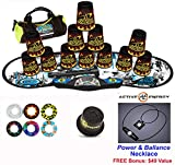 Speed Stacks Combo Set ''The Works'': 12 BLACK FLAME 4'' Cups, REBEL MUDD Gen 3 Mat, G4 Pro Timer, Cup Keeper, Stem, Gear Bag, 6 Snap Tops + Active Energy Necklace