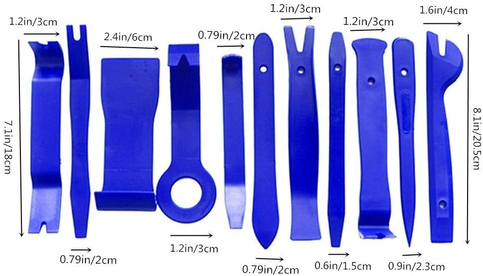 HEELPPO Atrezzi per Officina Meccanica Beta Utensili Attrezzi Officina Attrezzatura Officina Attrezzi da Officina Meccanica Kit Smontaggio Pannelli Auto Car Tool Kit Blue