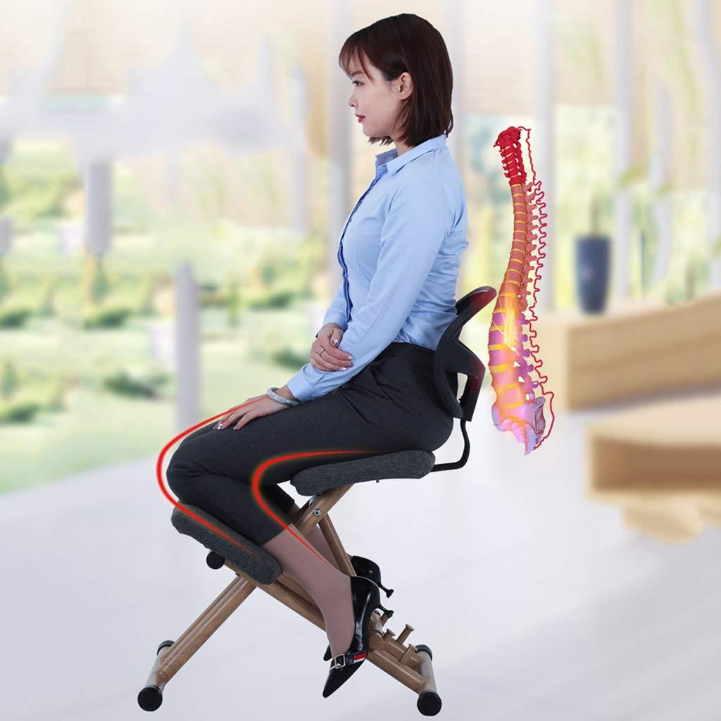 WXX Silla ergonómica, Silla de Rodillas Ajustable, Respaldo ...