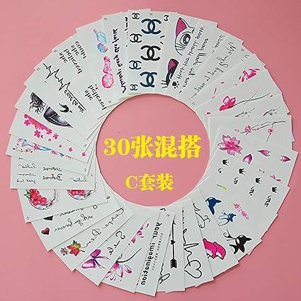 9 piezas tatuaje pegatina flor tatuaje pegatina color dibujo ...