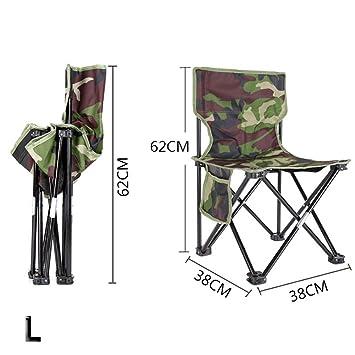PROKTH Silla Plegable para Exterior Silla de Pesca Silla de Camping Silla de Playa Silla de
