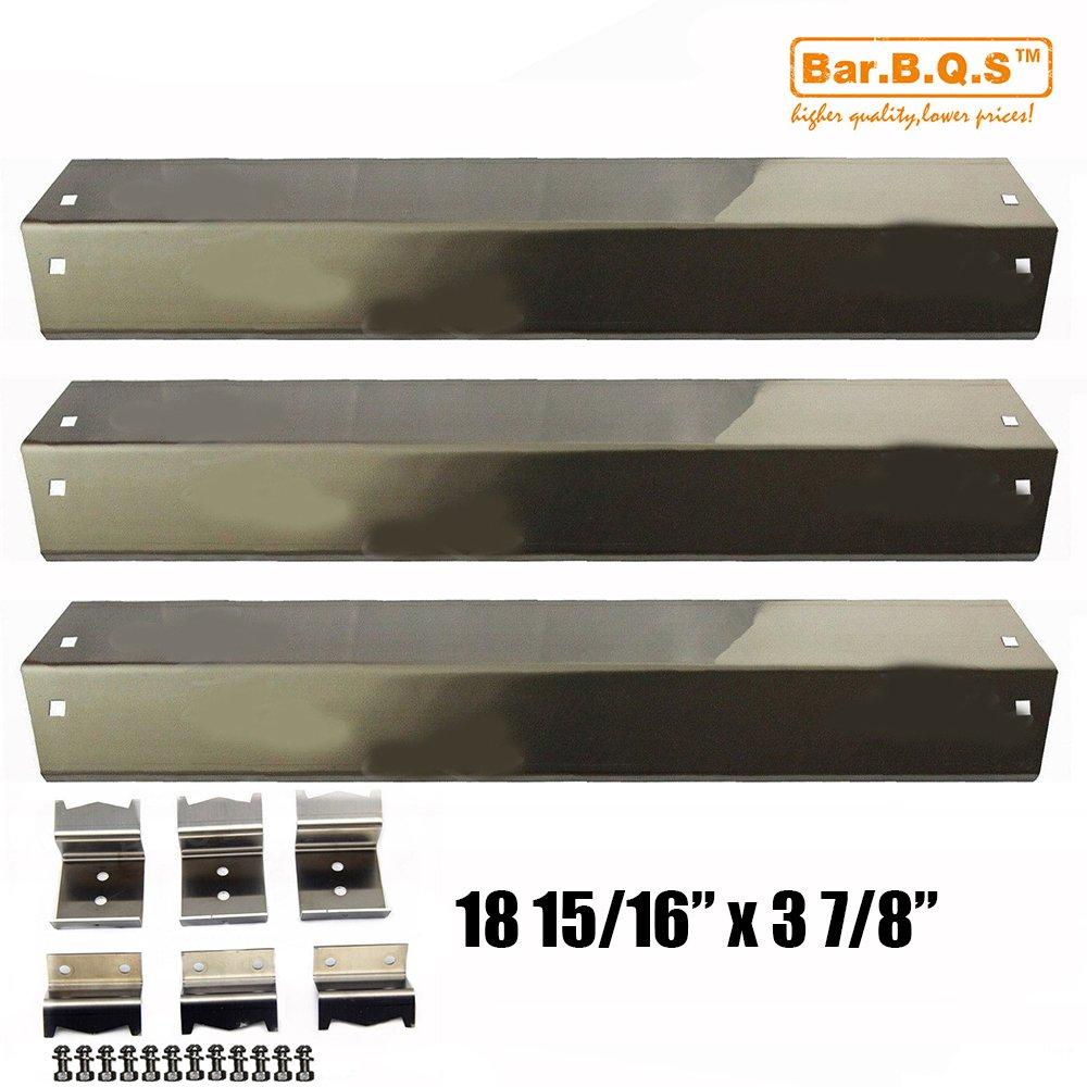 Bar.B.Q.S 95051 3pack Edelstahl Wärmeplatte, Aufhängebügel Ersatz für Chargriller 3001, 4000,5050, 5252 Gasgrillmodelle