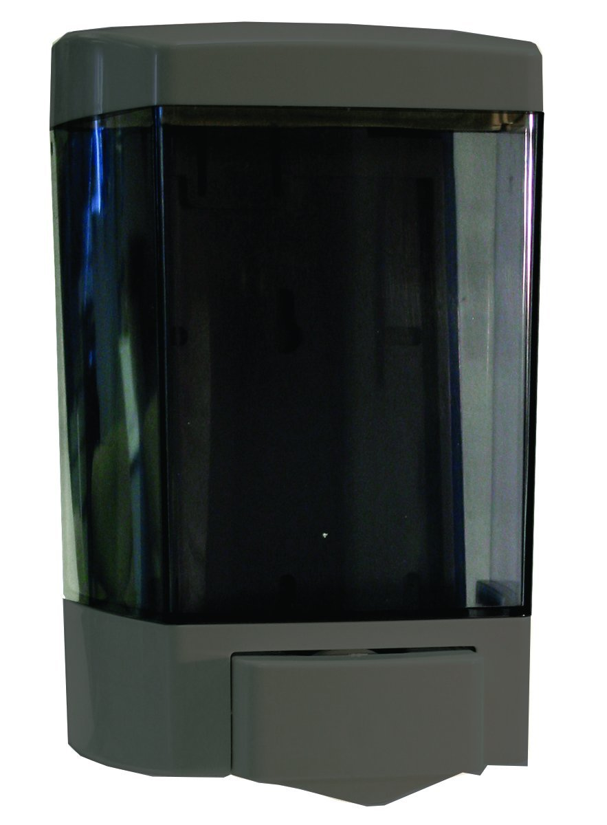 Impact 9347 ClearVu Soap Dispenser, 46 oz Capacity, 4-1/4'' Length x 5-1/2'' Width x 8-1/2'' Height, Gray (Case of 12)