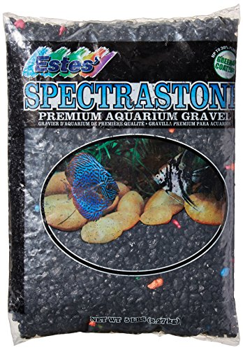 Lagoon Gravel (Spectrastone Permaglo Black Lagoon for Freshwater Aquariums, 5-Pound Bag)