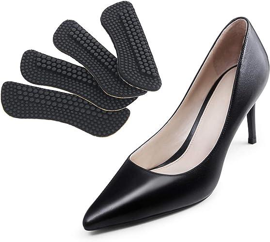 [Vkaiy] かかとパッド 4枚セット 靴ずれ防止 ヒールパッド サイズ調整用 痛み軽減 メンズ レディース ジェルクッション インソール 踵保護 滑り止め パカパカ防止 ハイヒール スニーカー パンプス ビジネスシューズ 快適 2色