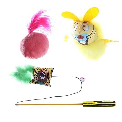 IFOYO Juguete de gato, interactivo, con peluca de gato pequeño, juguete para gato