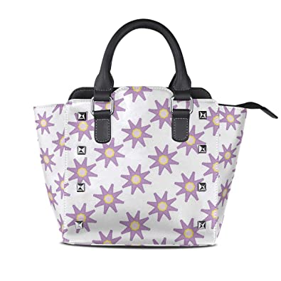 Image Unavailable. Image not available for. Color  Handbags Purple Flower  ...