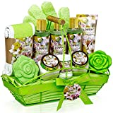 Bath and Body Gift Basket For Women & Men – Magnolia and Jasmine Home Spa Set, Includes Fragrant...