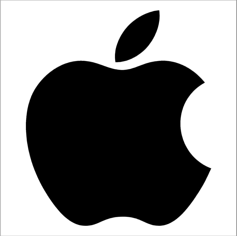 Apple logo die cut vinyl decal sticker 2 5 black