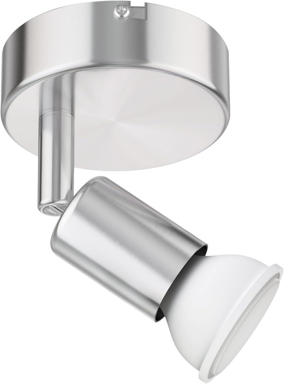 ledscom.de Wand Leuchte LUNARA, einflammig inkl. 12lm LED GU12 Lampe  warm weiß