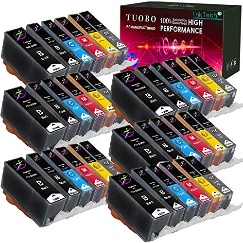 Tuobo 36 Pack PGI-220 CLI-221 and Gray with New Chip Ink Cartridges Replacement Compatible with PIXMA IP3600 IP4600 IP4700 MX860 MX870 MP560 MP620 MP620B MP640 MP980 MP990 PMFP1 PMFP3 SFP1 Printer ()