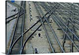 greatBIGcanvas Gallery-Wrapped Canvas entitled Railroad switching yard tracks by Mark Gibson 48''x32''