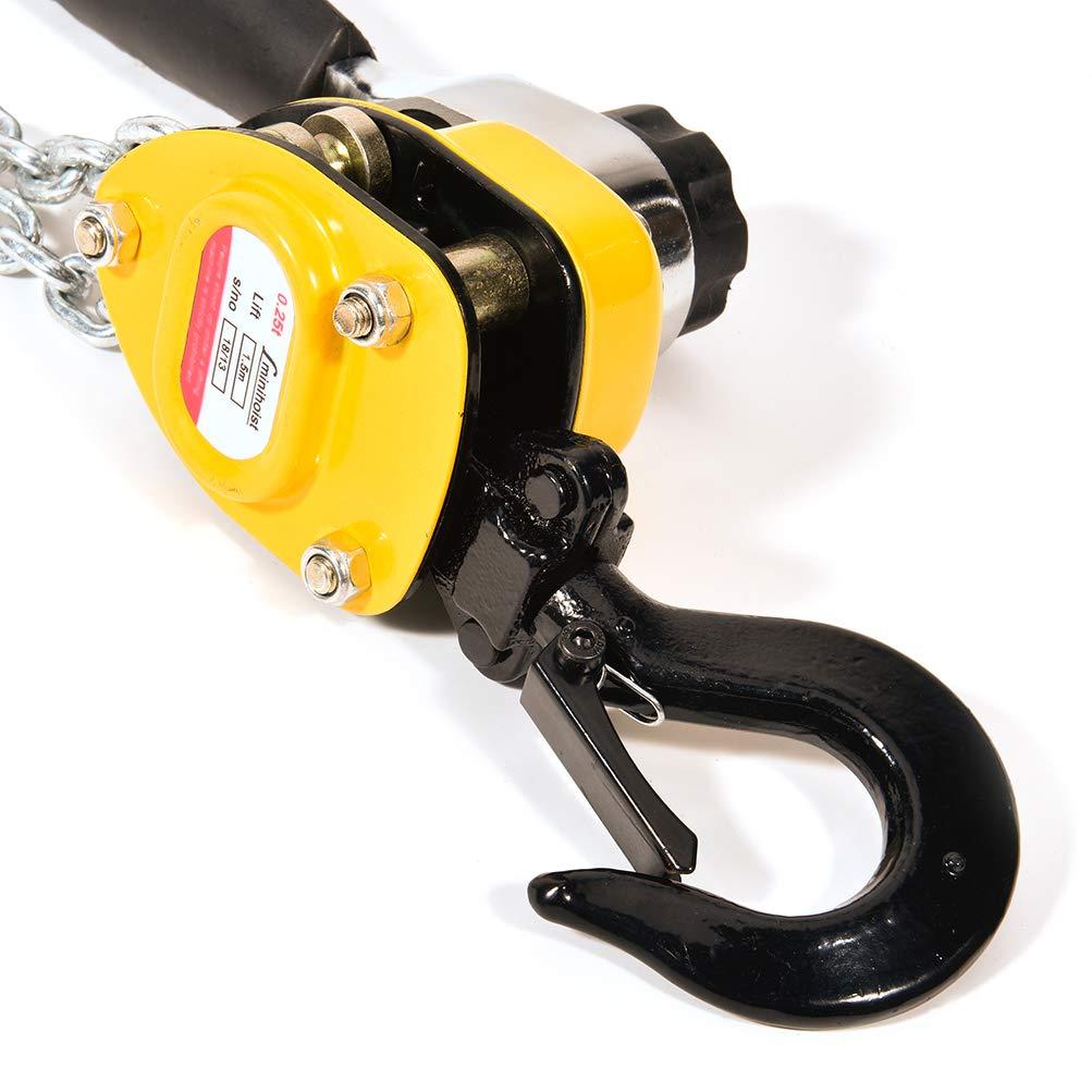FEIPARTS Chain Block Hoist Ratchet Lever Hoist 1//4T x 5FT