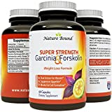 Pure Garcinia Cambogia + Forskolin Extract Supplement with Highest Grade HCA As Recommended By Doctors, USA Made & Clinically Proven* - Safe & Effective for Weight Loss, 60 Caps - Guaranteed By Nature Bound
