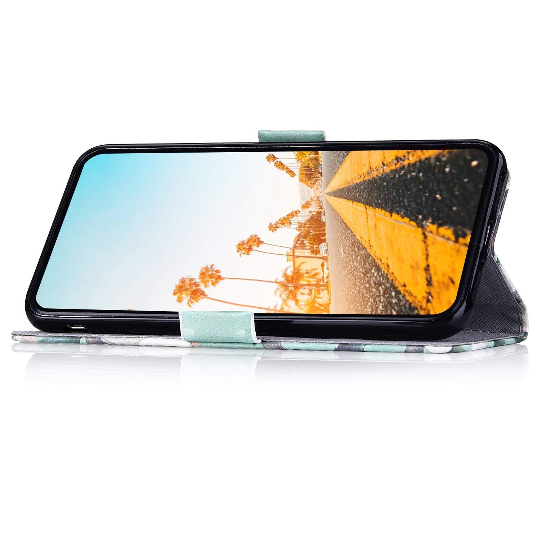 Herbests compatibile con Samsung Galaxy S7 Custodia Protettiva Flip Chiusura Magnetica Wallet Case Cover PU Pelle a Libro Custodia Elegante Colorate Dipinto Cover Portafoglio,Gatto