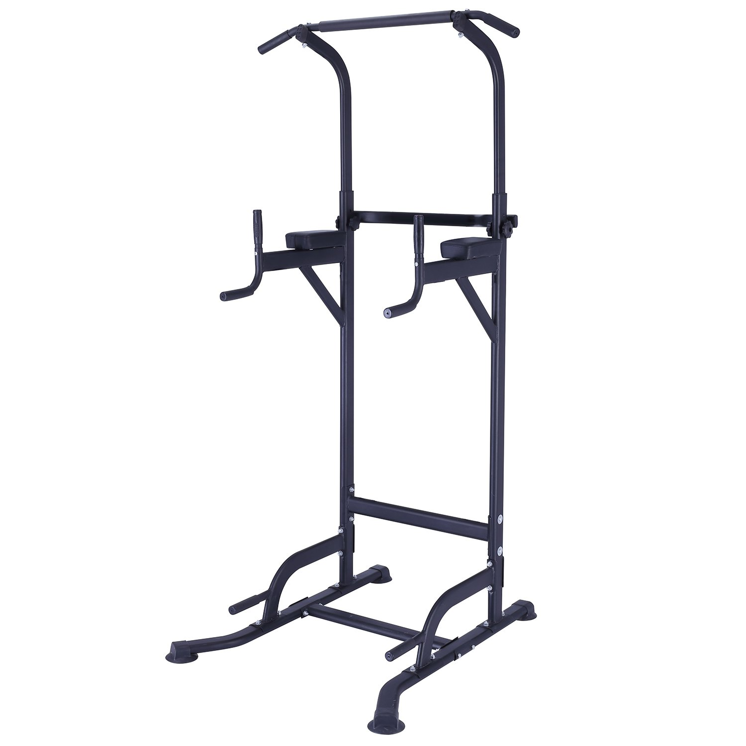 KiNGKANG Power Tower Adjustable Height Multi-Function Home Strength Training Fitness Workout Station, T055