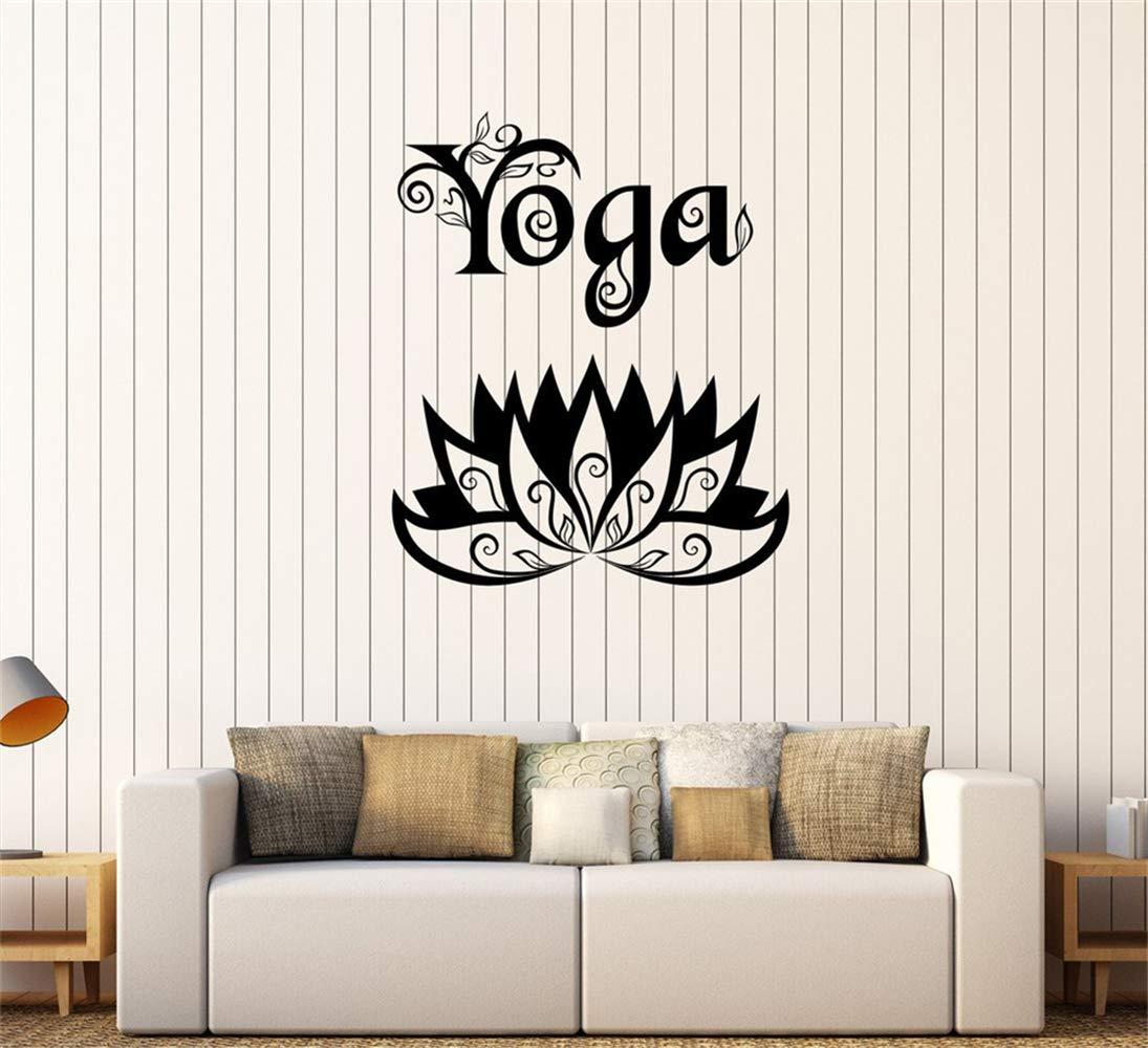 pegatinas de pared espejo Centro de Yoga Meditación Flor de ...