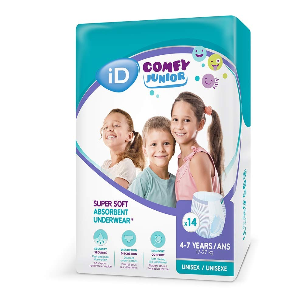 iD Comfy Junior Pants (4-7 Years) - Pack of 14 Ontex