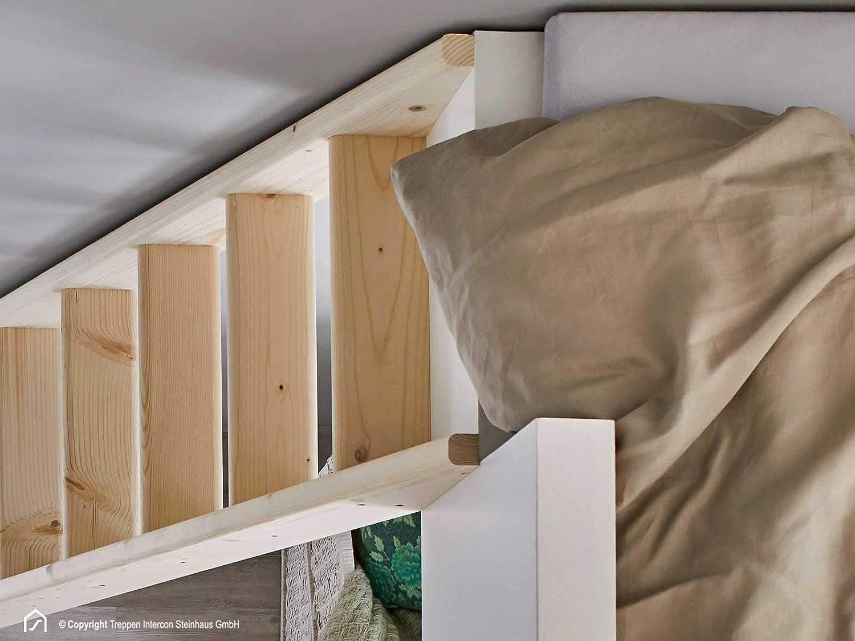10 Stufen 240 cm 12 Stufen 260 cm Fichte Massivholz 6 Stufen 145 cm Intercon/® Hochbettleiter SAFE STEP 8 Stufen 190 cm
