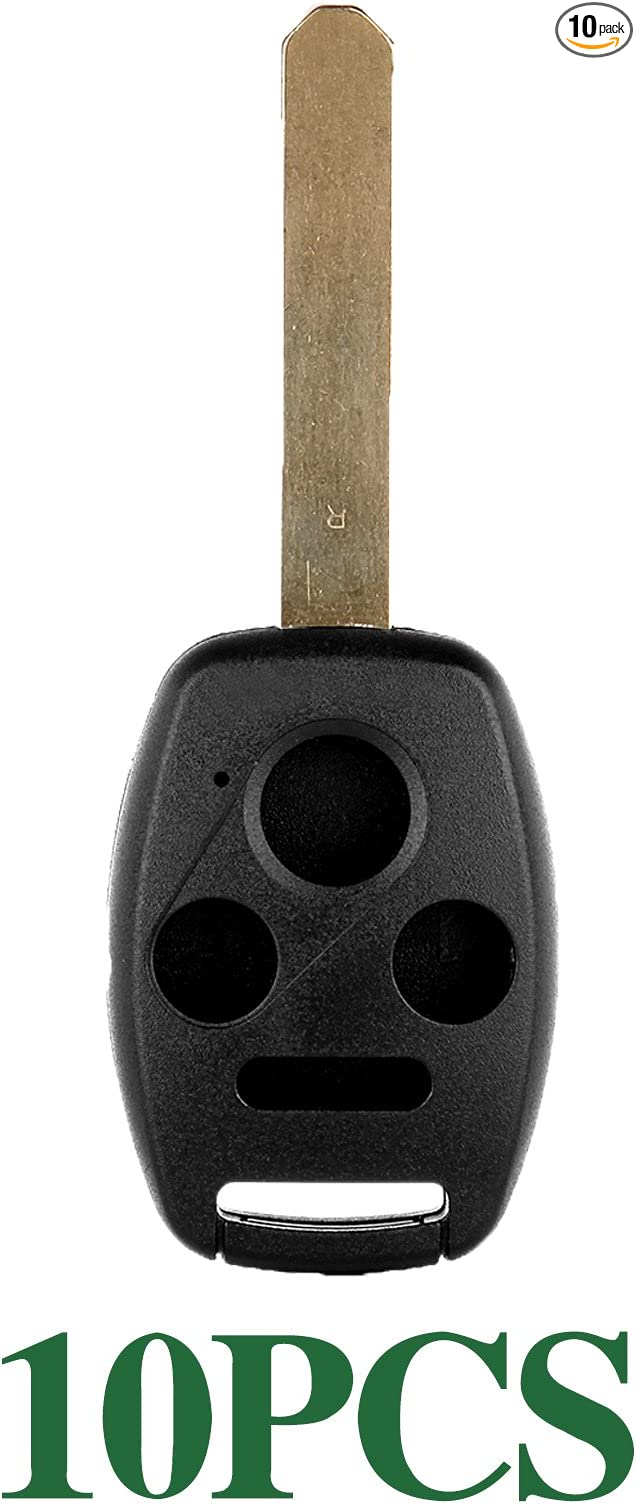 Pack of 1 ECCPP Replacement fit for Uncut Keyless Entry Remote Control Car Key Fob Shell Case Honda Series OUCG8D-380H-A
