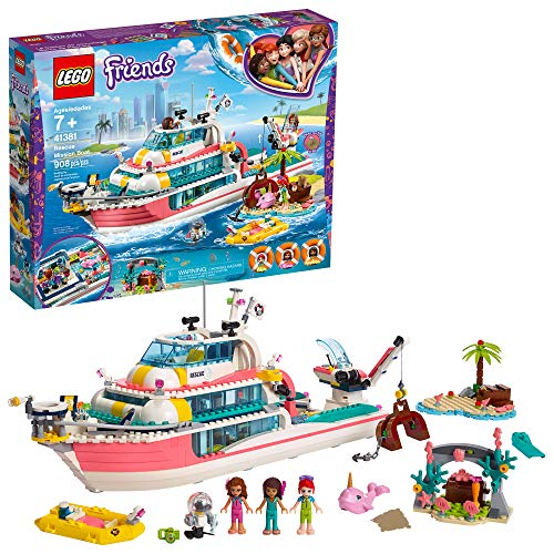 LEGO Friends Rescue Mission Boat 41381 Building Kit, New 2019 (908 Pieces) (Best Boats For 2019)