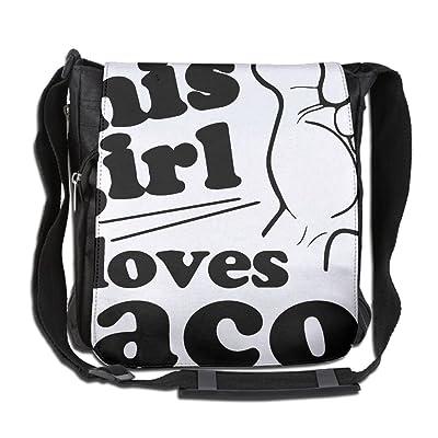 This Girl Loves Tacos Fashion Print Diagonal Single Shoulder Bag