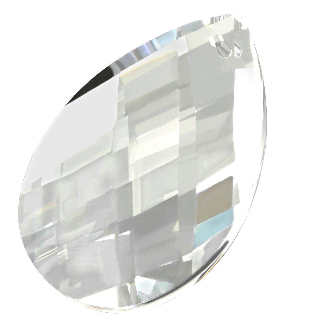 uxcell 50 colgantes de ara/ña con cuentas octogonales de cristal color azul