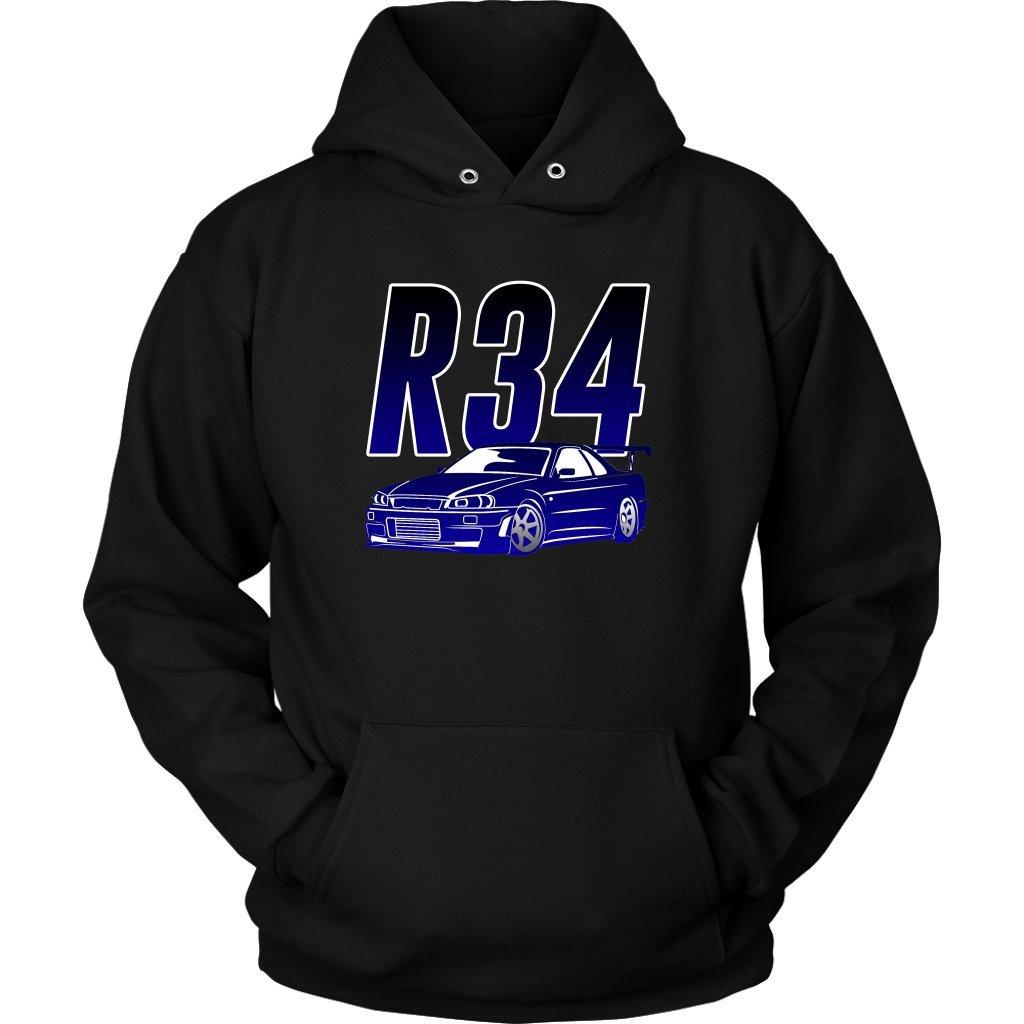 Nissan Skyline R34 GTR Tuner JDM Car Hoodie Sweatshirt