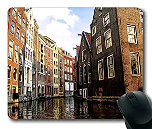 Amsterdam City Masterpiece Limited Design Oblong Mouse Pad by Cases & Mousepads