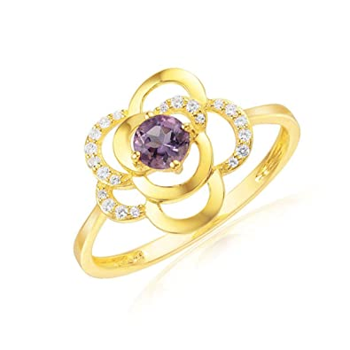 bague or jaune motif