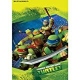 Totally Tubular Teenage Mutant Ninja Turtles Party Folded Loot Bag Favours, Plastic, 9