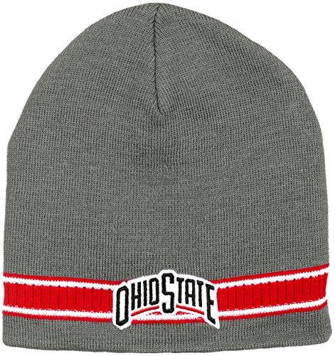 Collegiate Headwear Ohio State Buckeyes Men's Dash Knit Beanie (Gray) ()