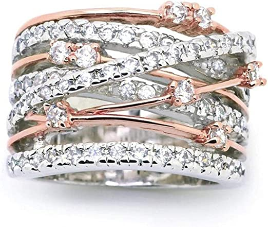 Dazzling Elegant Bridal Wedding Engagement Oval Shiny Rhinestone Finger Ring W