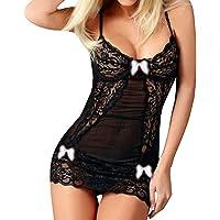 Lingerie Sexy Femmes Lingerie Robe Hors éPaule De Nuit Sexy Dentelle Perspective sous-VêTements sans Fil Babydoll Nuisette Nightwear Internet