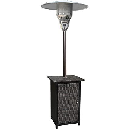 Lovely Hanover 41000 BTU Square Wicker Propane Patio Heater, 7u0027, Brown/Hammered  Bronze