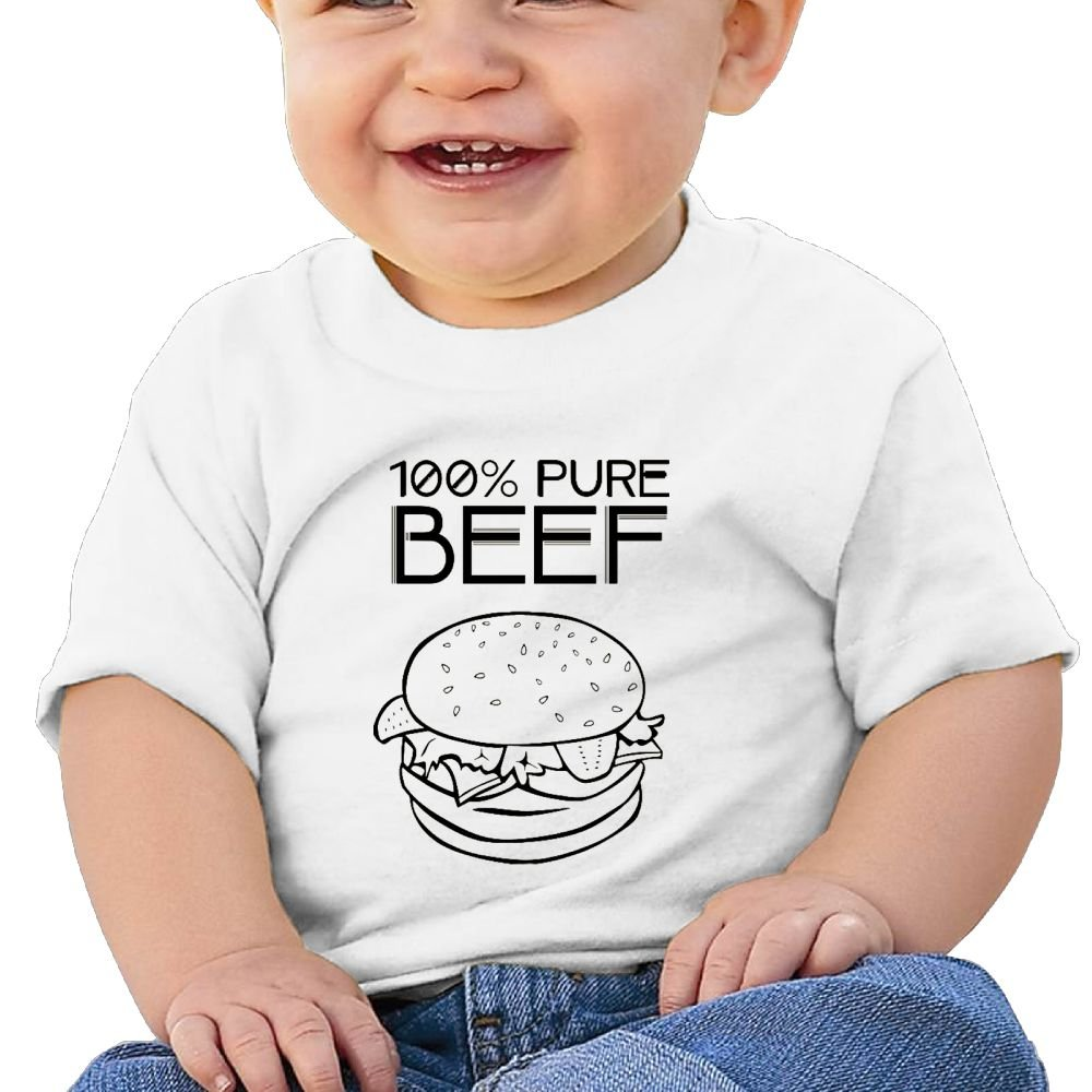 REBELN 100/% Pure Beef Hamburgers Cotton Short Sleeve T Shirts for Baby Toddler Infant