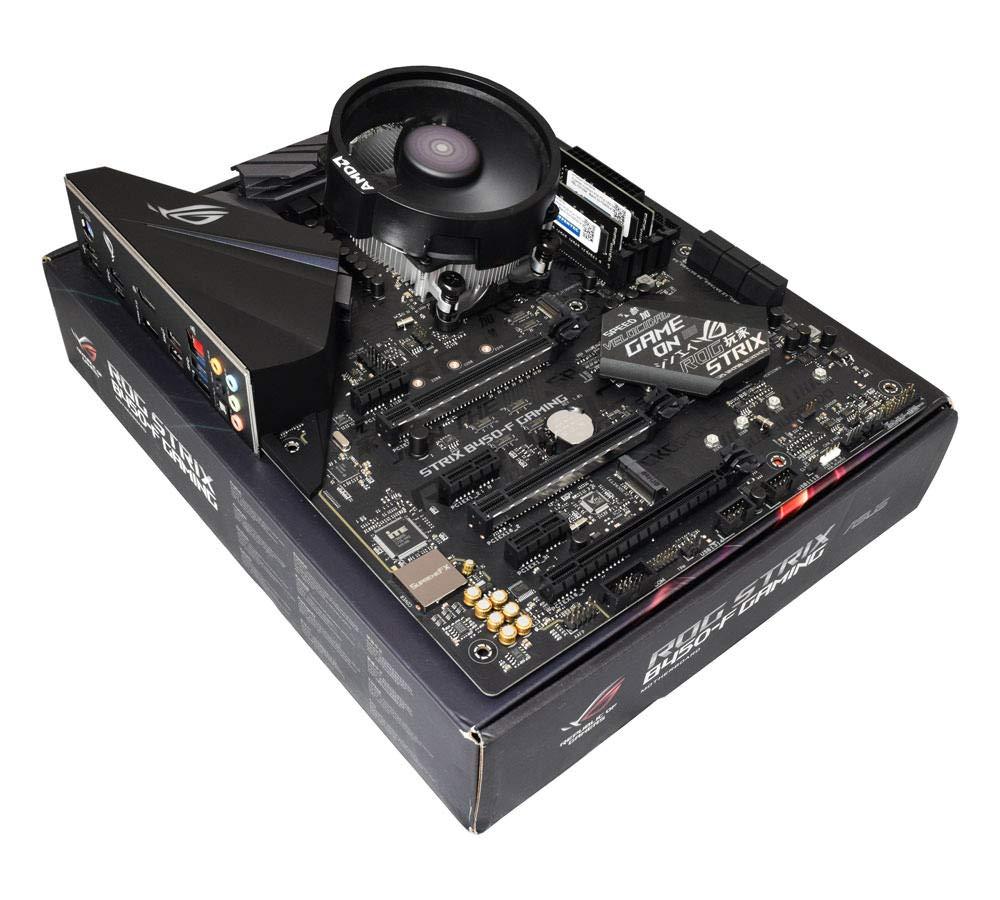 ADMI CPUマザーボードバンドル:AMD Ryzen 5 2600X 6コア4.2GHz、AMD Wraithクーラー、ASUS ROG STRIX B450-Fゲーミング、RAMなし B07GH82XMN