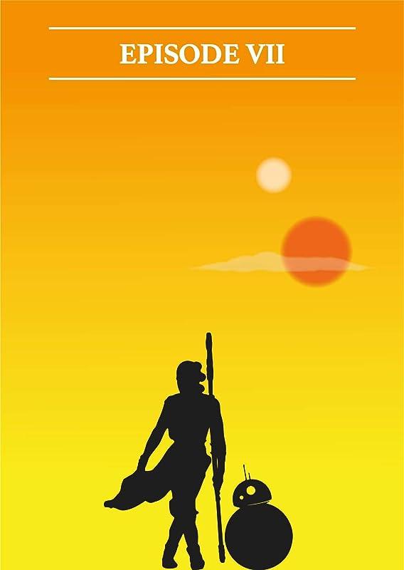 OAK FRAMED STAR WARS EPISODE VII 3D STAR WARS PICTURE 465mm x 365mm GALAXY